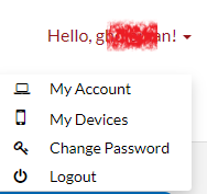 Account Menu